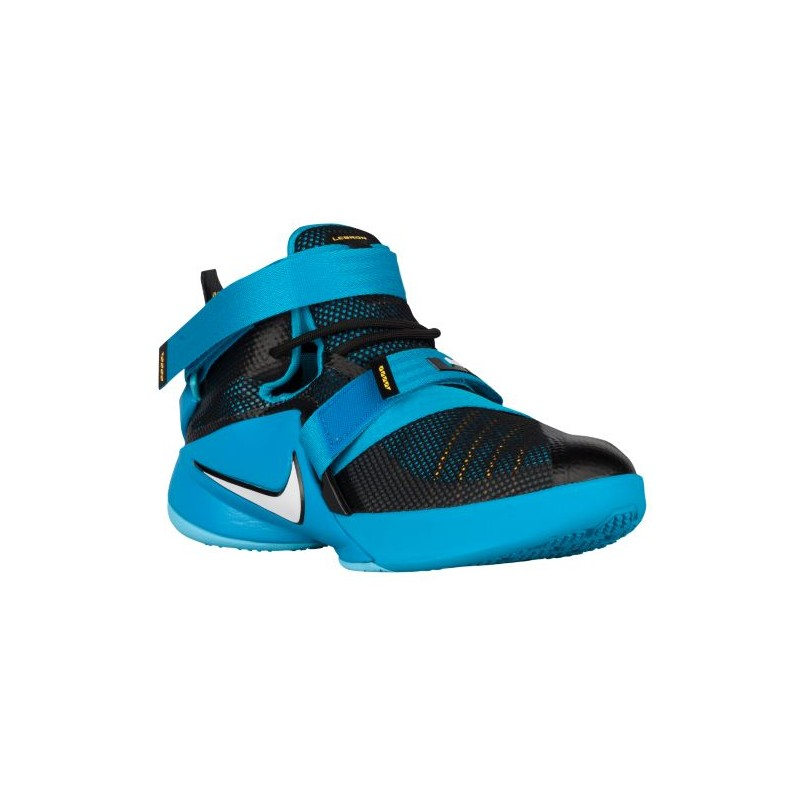 Nike Soldier IX - Boys' Grade School - Basketball - Shoes - Black/Blue ...
