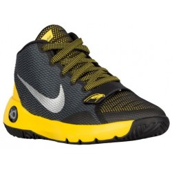 Nike KD Trey 5 III - Boys' Grade School - Basketball - Shoes - Kevin Durant - Black/Metallic Silver/Tour Yellow-sku:68870007