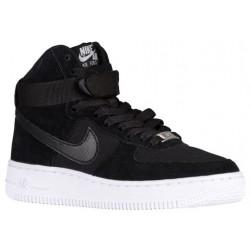 Nike Air Force 1 High - Boys' Grade School - Basketball - Shoes - Black/Black/White-sku:53998009