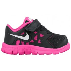 Nike Flex suprrreme TR 4 - Girls' Toddler - Training - Shoes - Black/Pink Pow/White-sku:59999001