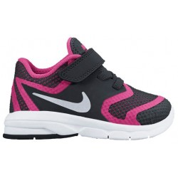 Nike Premier Run - Girls' Toddler - Running - Shoes - Black/Vivid Pink/White/Metallic Silver-sku:16790004