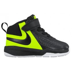 Nike Team Hustle D 7 - Boys' Toddler - Basketball - Shoes - Black/Volt/White/Black-sku:48002002