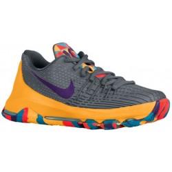 Nike KD 8 - Boys' Grade School - Basketball - Shoes - Kevin Durant - Wolf Grey/Cool Grey/Blue Lagoon/Court Purple-sku:68867050