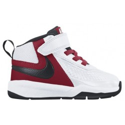 Nike Team Hustle D 7 - Boys' Toddler - Basketball - Shoes - White/Black/Gym Red-sku:8002100