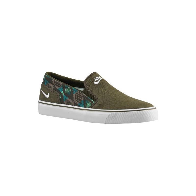 Nike Toki Slip - Men's - Casual - Shoes - Dark Loden/Bamboo/Radiant ...