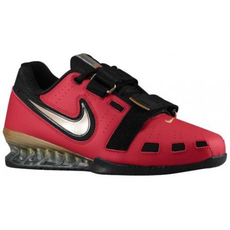 Nike Romaleos II Power Lifting - Men's - Training - Shoes - Varsity Red/Metallic Gold/Black-sku:76927670