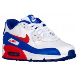 Nike Air Max 90  - Boys' Grade School - Running - Shoes - White/University Red/Racer Blue-sku:24821104