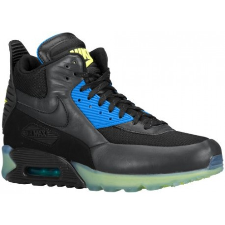 Nike Air Max 90 Sneakerboot - Men's - Casual - Shoes - Black/Dark Ash/Photo Blue/Black-sku:84722001