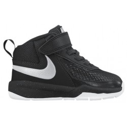 Nike Team Hustle D 7 - Boys' Toddler - Basketball - Shoes - Black/Metallic Silver/White-sku:48002001