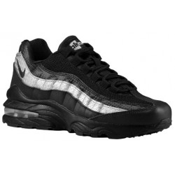 Nike Air Max 95  - Boys' Grade School - Running - Shoes - Black/Black/Silver-sku:07565902