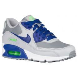 Nike Air Max 90  - Boys' Grade School - Running - Shoes - Cool Grey/Deep Royal Blue/Wolf Grey-sku:24821005