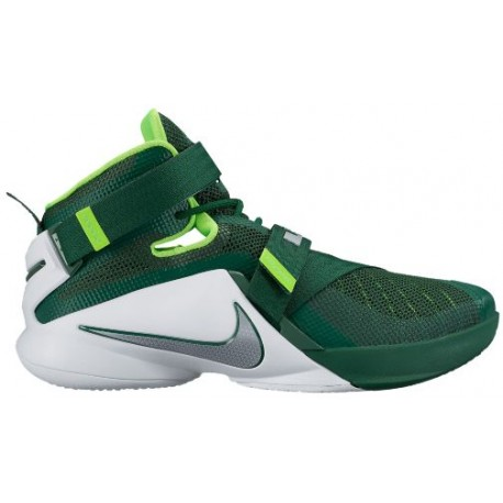 best sneakers 9ecb8 21702 Nike Zoom Soldier 9 - Men's - Basketball - Shoes - LeBron James - Gorge  Green/White/Electric Green/Metallic Silver-sku:49498301