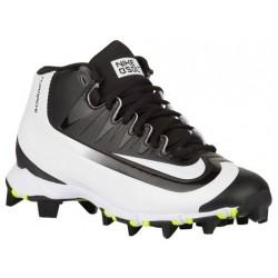 Nike Huarache  2K Filth Keystone Mid BG - Boys' Grade School - Baseball - Shoes - Black/White/Volt-sku:07138017