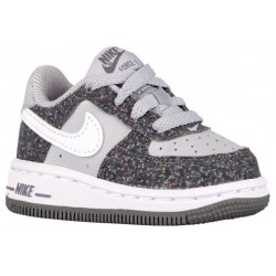 Nike Air Force 1 Low - Boys' Toddler - Basketball - Shoes - Dark Grey/Wolf Grey/White-sku:96730023