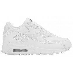 Nike Air Max 90 - Boys' Preschool - Running - Shoes - White/Cool Grey/White-sku:24822100