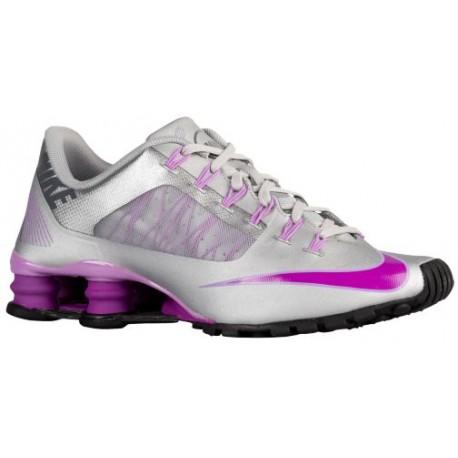 nike shox running shoes,Nike Shox NZ - Women's - Running - Shoes - Metallic Silver/Vivid Purple/Fuchsia Glow-sku:53479005
