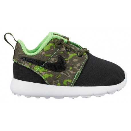 sale retailer 7198b 59c9f Nike Roshe One - Boys' Toddler - Running - Shoes - Black/Black/Cargo  Khaki/Green Strike-sku:49357008