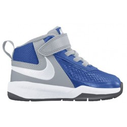 Nike Team Hustle D 7 - Boys' Toddler - Basketball - Shoes - Game Royal/Wolf Grey/Black/White-sku:48002400