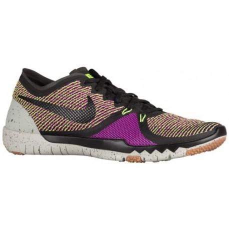 Nike Free Trainer 3.0 V4 - Men's - Training - Shoes - Black/Volt/Vivid Purple/Lunar Grey-sku:49361075