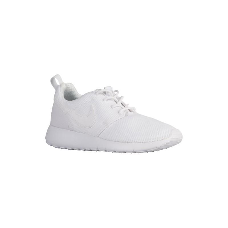 hot sales 19162 fa991 Nike Roshe One - Boys' Grade School - Running - Shoes - White/White/Wolf  Grey-sku:99729102