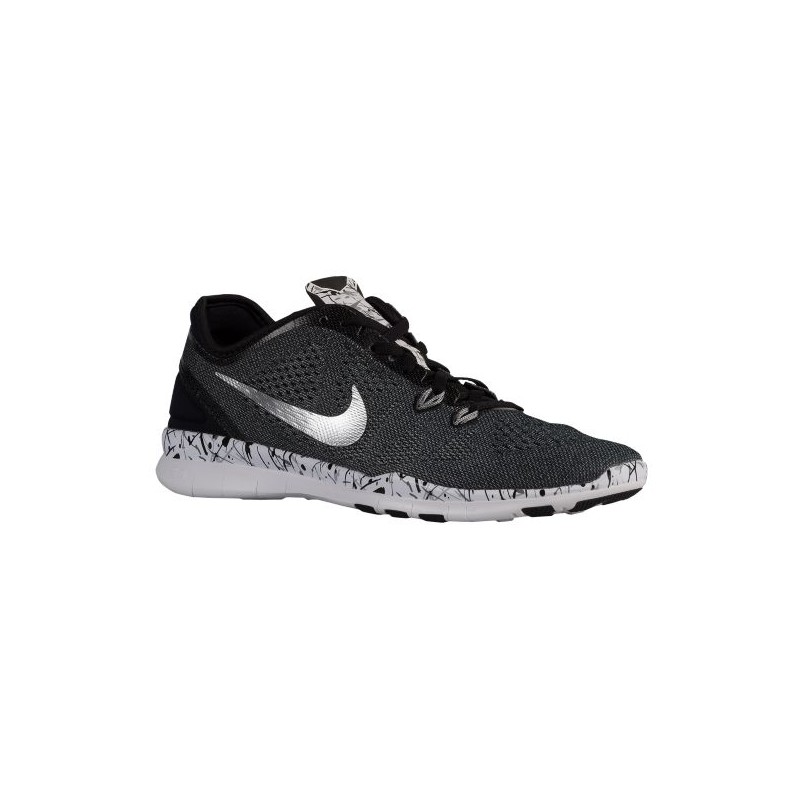 brand new 49156 f6b11 womens nike free 5.0 tr fit 4 print,Nike Free 5.0 TR Fit 5 - Women s -  Training - Shoes - Black White Cool Grey Metallic Silver