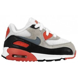Nike Air Max 90 - Boys' Toddler - Running - Shoes - White/Neutral Grey/Black/Cool Grey-sku:4884100