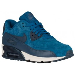 Nike Air Max 90 - Women's - Running - Shoes - Brigade Blue/Metallic Armory Navy/Squadron Blue-sku:68887401
