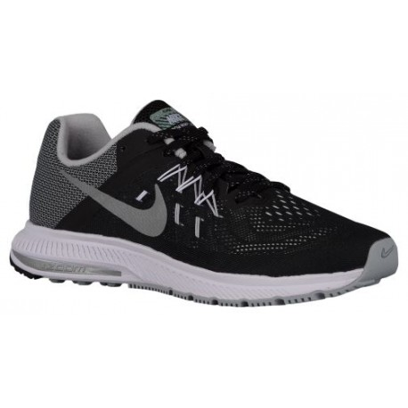 Nike Air Zoom Winflo 2 Flash Women's Running Shoes BlackWhiteReflective Silver sku:7280002