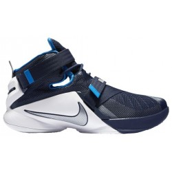Nike Zoom Soldier 9 - Men's - Basketball - Shoes - LeBron James - Midnight Navy/White/Photo Blue/Metallic Silver-sku:49498402