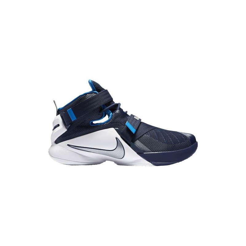 Navy Blue Youth Basketball Shoes