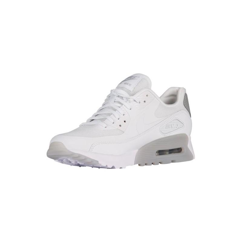Womens White & Metallic Silver Nike Air Max 90 Ultra