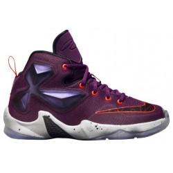 Nike LeBron XIII - Boys' Preschool - Basketball - Shoes - LeBron James - Mulberry/Black/Pure Platinum/Vivid Purple-sku:08710500