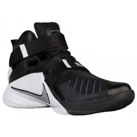 buy online dc1b6 59253 Nike Zoom Soldier 9 - Men's - Basketball - Shoes - LeBron James -  Black/White/Anthracite/Metallic Silver-sku:49498001