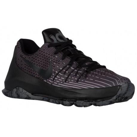 Nike KD 8 - Boys' Grade School - Basketball - Shoes - Kevin Durant - Black/Black/Dark Grey/Cool Grey-sku:68867001