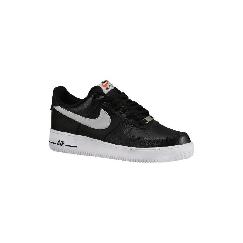 Nike Air Force 1 Bajo De Los Hombres En Blanco Y Negro De Zapatos De Baloncesto MzOFD5axEN