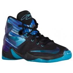 Nike LeBron XIII - Boys' Preschool - Basketball - Shoes - Lebron James - Black/White/Heritage Cyan-sku:08710003