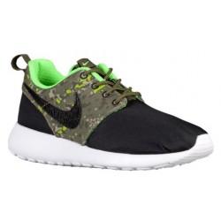 Nike Roshe One - Boys' Grade School - Running - Shoes - Black/Black/Cargo Khaki/Green Strike/White-sku:77782008