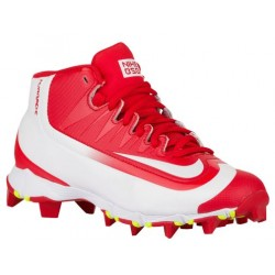 Nike Huarache  2K Filth Keystone Mid BG - Boys' Grade School - Baseball - Shoes - University Red/White/Volt-sku:07138617
