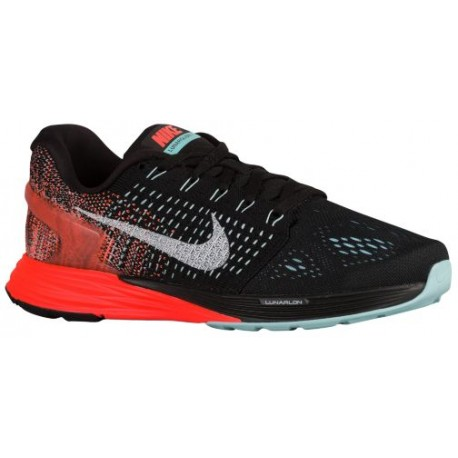 Nike Lunarglide 7 - Women's - Running - Shoes - Black/Copa/Hyper Orange