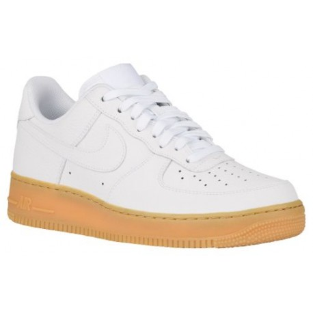 Nike Air Force 1 Low - Men's - Basketball - Shoes - White/White/Gum Light Brown-sku:88298159