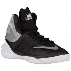 Nike Prime Hype DF II - Boys' Grade School - Basketball - Shoes - Black/White/Flt Silver/Reflect Silver-sku:07613001