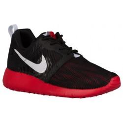 Nike Roshe Run Flight Weight - Boys' Grade School - Running - Shoes - Black/White/University Red-sku:05485006