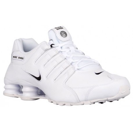 Nike Shox NZ - Men's - Running - Shoes - White/Black/White-sku:01524106