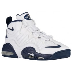 Nike Air Max Sensation - Men's - Basketball - Shoes - White/Midnight Navy/White/Metallic Silver-sku:05897100