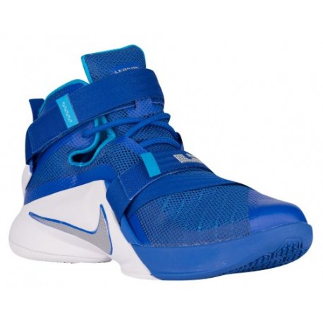 Nike Zoom Soldier 9 - Men's - Basketball - Shoes - LeBron James - Game Royal/White/Blue Hero/Metallic Silver-sku:49498401