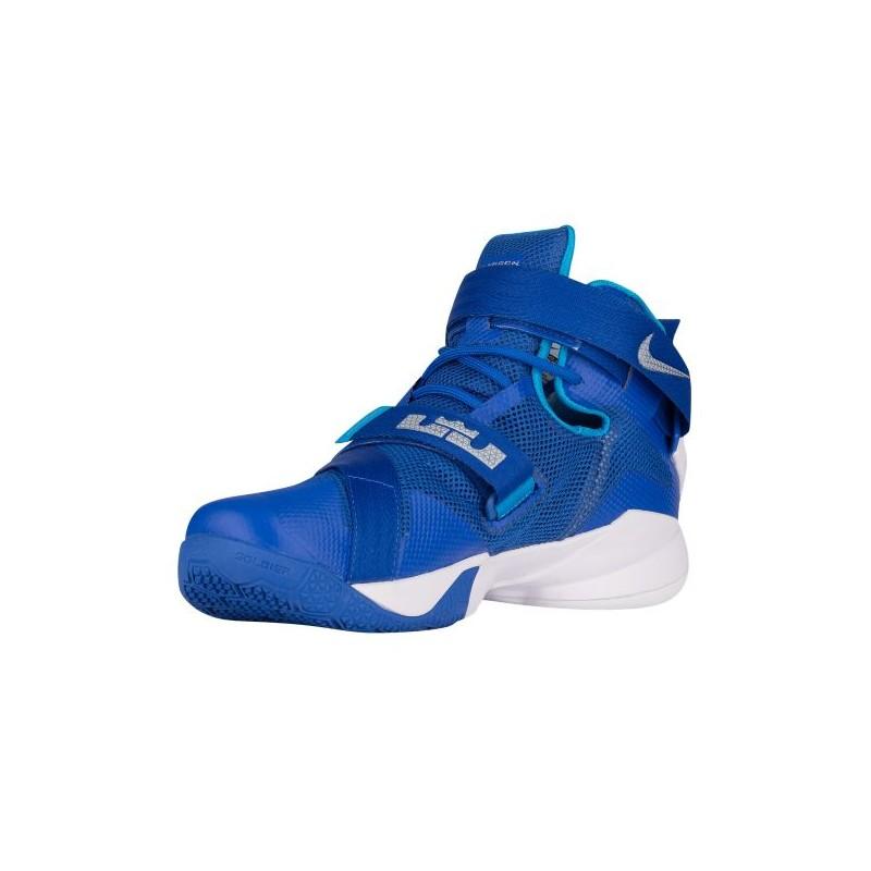 ... Nike Zoom Soldier 9 - Men\u0027s - Basketball - Shoes - LeBron James - Game  Royal ...