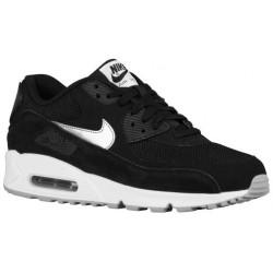 Nike Air Max 90 - Men's - Running - Shoes - Black/White/Flight Silver/Metallic Silver-sku:37384047