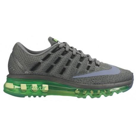 Nike Air Max 2016 - Boys' Grade School - Running - Shoes - Black/Reflect Silver/Voltage Green/Medium Olive-sku:07236003