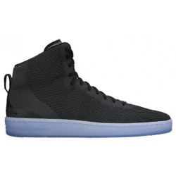 Nike Pro Stepper - Men's - Basketball - Shoes - Black/Anthracite/Metallic Silver/Black-sku:76086001