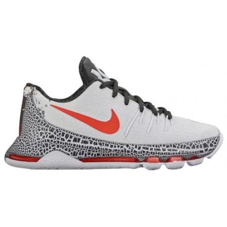 Nike KD 8 - Boys' Grade School - Basketball - Shoes - Kevin Durant - White/Black/Bright Crimson-sku:24464106